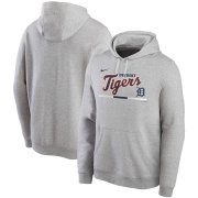Wholesale Cheap Detroit Tigers Nike Color Bar Club Pullover Hoodie Gray
