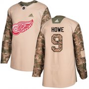 Wholesale Cheap Adidas Red Wings #9 Gordie Howe Camo Authentic 2017 Veterans Day Stitched NHL Jersey