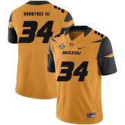 Wholesale Cheap Missouri Tigers 34 Larry Rountree III Gold Nike College Football Jersey