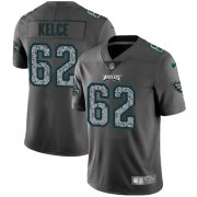 Wholesale Cheap Nike Eagles #62 Jason Kelce Gray Static Youth Stitched NFL Vapor Untouchable Limited Jersey