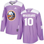 Wholesale Cheap Adidas Islanders #10 Derek Brassard Purple Authentic Fights Cancer Stitched NHL Jersey