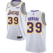 Wholesale Cheap Nike Lakers #39 Dwight Howard White NBA Swingman Association Edition Jersey