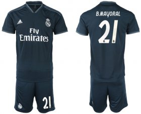 Wholesale Cheap Real Madrid #21 B.Mayoral Away Soccer Club Jersey