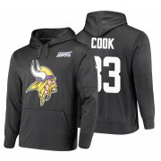 Wholesale Cheap Minnesota Vikings #33 Dalvin Cook Nike NFL 100 Primary Logo Circuit Name & Number Pullover Hoodie Anthracite