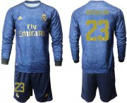 Wholesale Cheap Real Madrid #23 Reguilon Away Long Sleeves Soccer Club Jersey