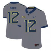 Wholesale Cheap West Virginia Mountaineers 12 Geno Smith Gray College Football Jersey