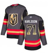 Wholesale Cheap Adidas Golden Knights #71 William Karlsson Grey Home Authentic Drift Fashion Stitched NHL Jersey