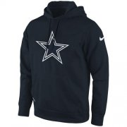 Wholesale Cheap Dallas Cowboys Nike KO Logo Essential Pullover Hoodie Navy