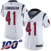 Wholesale Cheap Nike Texans #41 Zach Cunningham White Women's Stitched NFL 100th Season Vapor Limited Jersey