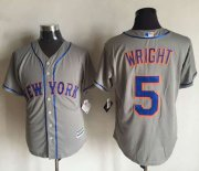 Wholesale Cheap Mets #5 David Wright New Grey Cool Base Stitched MLB Jersey