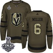 Wholesale Cheap Adidas Golden Knights #6 Colin Miller Green Salute to Service 2018 Stanley Cup Final Stitched Youth NHL Jersey