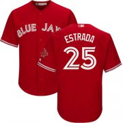 Wholesale Cheap Blue Jays #25 Marco Estrada Red Cool Base Canada Day Stitched Youth MLB Jersey
