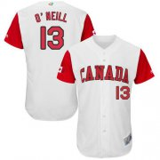 Wholesale Cheap Team Canada #13 Tyler O'Neill White 2017 World MLB Classic Authentic Stitched MLB Jersey