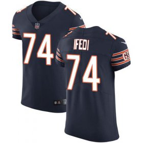 Wholesale Cheap Nike Bears #74 Germain Ifedi Navy Blue Team Color Men\'s Stitched NFL Vapor Untouchable Elite Jersey