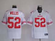 Wholesale Cheap 49ers #52 Patrick Willis Stitched White NFL Jersey