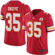 Wholesale Cheap Nike Chiefs #35 Christian Okoye Red Team Color Men's Stitched NFL Vapor Untouchable Limited Jersey