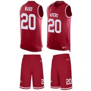 Wholesale Cheap Nike 49ers #20 Jimmie Ward Red Team Color Men's Stitched NFL Limited Tank Top Suit Jersey