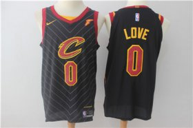 Wholesale Cheap Men\'s Cleveland Cavaliers #0 Kevin Love Black 2017-2018 Nike Swingman Goodyear Stitched NBA Jersey