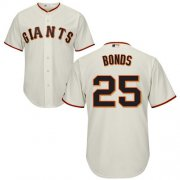 Wholesale Cheap Giants #25 Barry Bonds Cream Cool Base Stitched Youth MLB Jersey