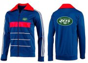 Wholesale Cheap NFL New York Jets Team Logo Jacket Blue_3