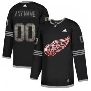 Wholesale Cheap Men's Adidas Red Wings Personalized Authentic Black Classic NHL Jersey