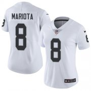 Wholesale Cheap Nike Raiders #8 Marcus Mariota White Women's Stitched NFL Vapor Untouchable Limited Jersey