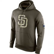 Wholesale Cheap Men's San Diego Padres Nike Olive Salute To Service KO Performance Hoodie