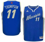Wholesale Cheap Men's Golden State Warriors #11 Klay Thompson Revolution 30 Swingman 2015 Christmas Day Blue Jersey
