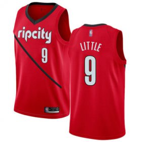 Wholesale Cheap Blazers #9 Nassir Little Red Basketball Swingman Earned Edition Jersey