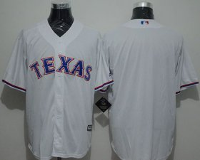 Wholesale Cheap Rangers Blank White New Cool Base Stitched MLB Jersey