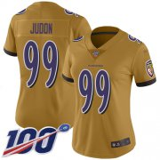 Wholesale Cheap Nike Ravens #99 Matthew Judon Gold Women's Stitched NFL Limited Inverted Legend 100th Season Jersey
