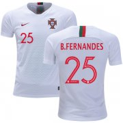 Wholesale Cheap Portugal #25 B.Fernandes Away Kid Soccer Country Jersey