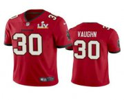 Wholesale Cheap Men's Tampa Bay Buccaneers #30 Ke'Shawn Vaughn Red 2021 Super Bowl LV Limited Stitched NFL Jersey