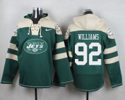 Wholesale Cheap Nike Jets #92 Leonard Williams Green Player Pullover NFL Hoodie