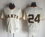 Wholesale Giants #24 Willie Mays Cream Flexbase Authentic Collection Stitched Baseball Jersey
