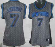 Wholesale Cheap New York Knicks #7 Carmelo Anthony Gray Static Fashion Womens Jersey