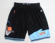 Wholesale Cheap Men's Cleveland Cavaliers Black Throwback Short