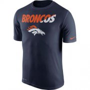 Wholesale Cheap Men's Denver Broncos Nike Navy Blue Legend Staff Practice Performance T-Shirt