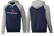 Wholesale Cheap Houston Texans Authentic Logo Pullover Hoodie Dark Blue & Grey