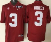 Wholesale Cheap Men's Alabama Crimson Tide #3 Calvin Ridley Red 2016 BCS College Football Nike Limited Jersey