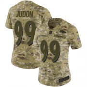 Wholesale Cheap Nike Ravens #99 Matthew Judon Camo Women's Stitched NFL Limited 2018 Salute To Service Jersey