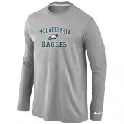 Wholesale Cheap Nike Philadelphia Eagles Heart & Soul Long Sleeve T-Shirt Grey