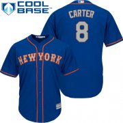 Wholesale Cheap Mets #8 Gary Carter Blue(Grey NO.) Cool Base Stitched Youth MLB Jersey