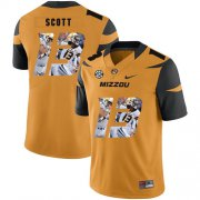 Wholesale Cheap Missouri Tigers 13 Kam Scott Gold Nike Fashion College Football Jersey
