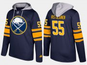 Wholesale Cheap Sabres #55 Rasmus Ristolainen Blue Name And Number Hoodie