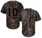 Wholesale Cheap Braves #10 Chipper Jones Camo Realtree Collection Cool Base Stitched MLB Jersey