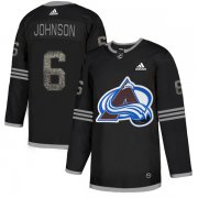 Wholesale Cheap Adidas Avalanche #6 Erik Johnson Black Authentic Classic Stitched NHL Jersey