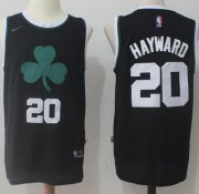 Wholesale Cheap Men's Boston Celtics #20 Gordon Hayward Black 2017-2018 Nike Swingman Stitched NBA Jersey