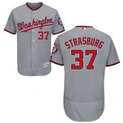 Wholesale Cheap Nationals #37 Stephen Strasburg Grey Flexbase Authentic Collection Stitched MLB Jersey