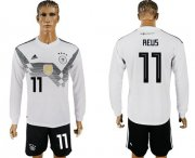 Wholesale Cheap Germany #11 Reus White Home Long Sleeves Soccer Country Jersey